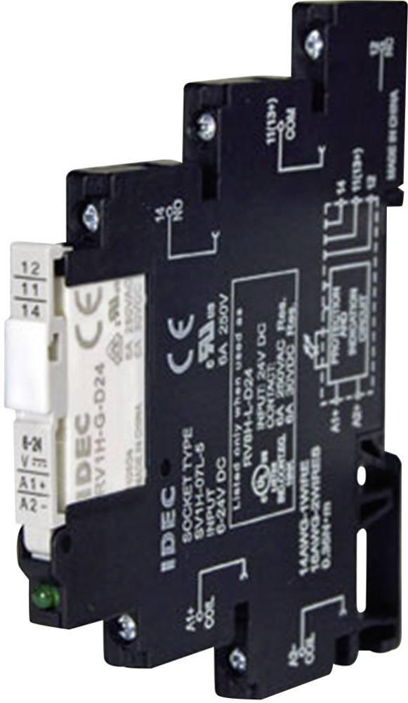 Relækomponent 1 stk Idec RV8H-L-AD220 Nominel spænding: 230 V/DC Brydestrøm (max.): 6 A 1 x skiftekontakt