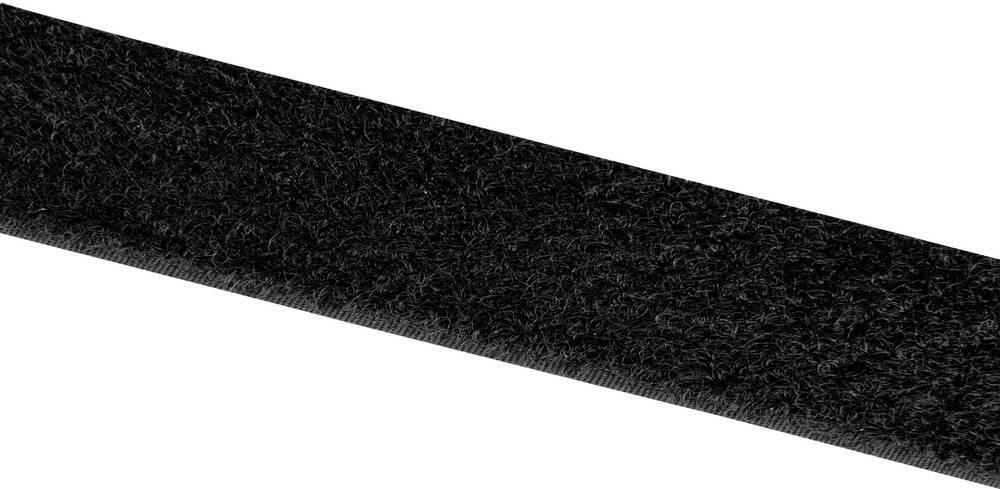 Sprijemalni trak za prišivanje Velcro E00102533013025, mehak del, 25 m x 25 mm, črn