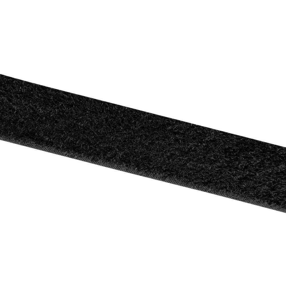 Sprijemalni trak za prišivanje Velcro E00102533011425, mehak del, 25 m x 25 mm, črn