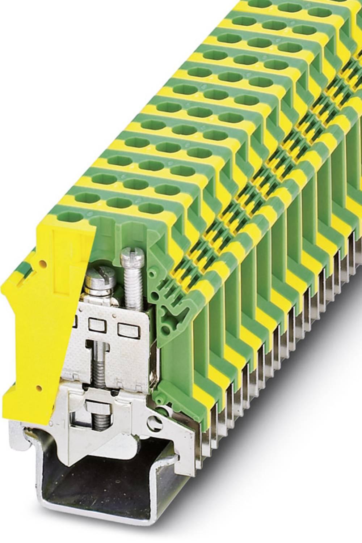 Beskyttende leder terminal USLKG16-1 Phoenix Contact USLKG16-1 Grøn-gul 50 stk