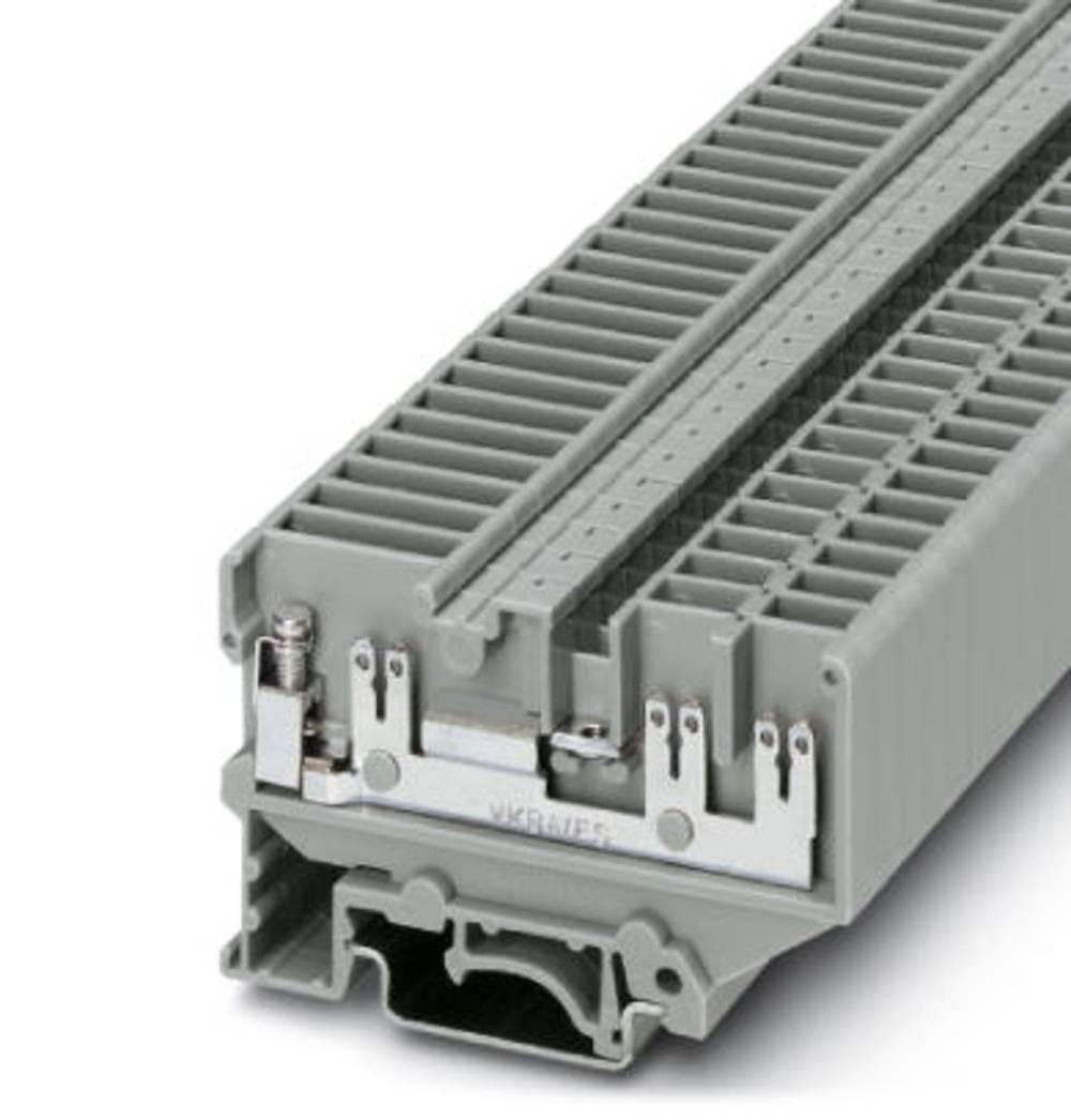 Gennem terminal UVKB 4-FS / FS (2,8) TP (2.4) 1234 / Q Phoenix Contact UVKB 4-FS/FS(2,8)TP(2,4)1234/Q Grå 50 stk