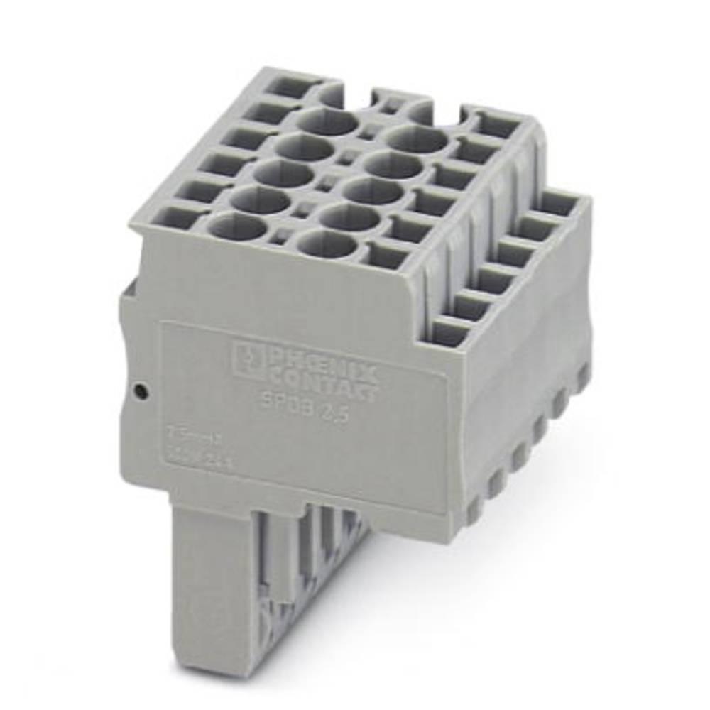 Plug SPDB 2.5 / 2 Phoenix Contact SPDB 2,5/ 2 Grå 50 stk