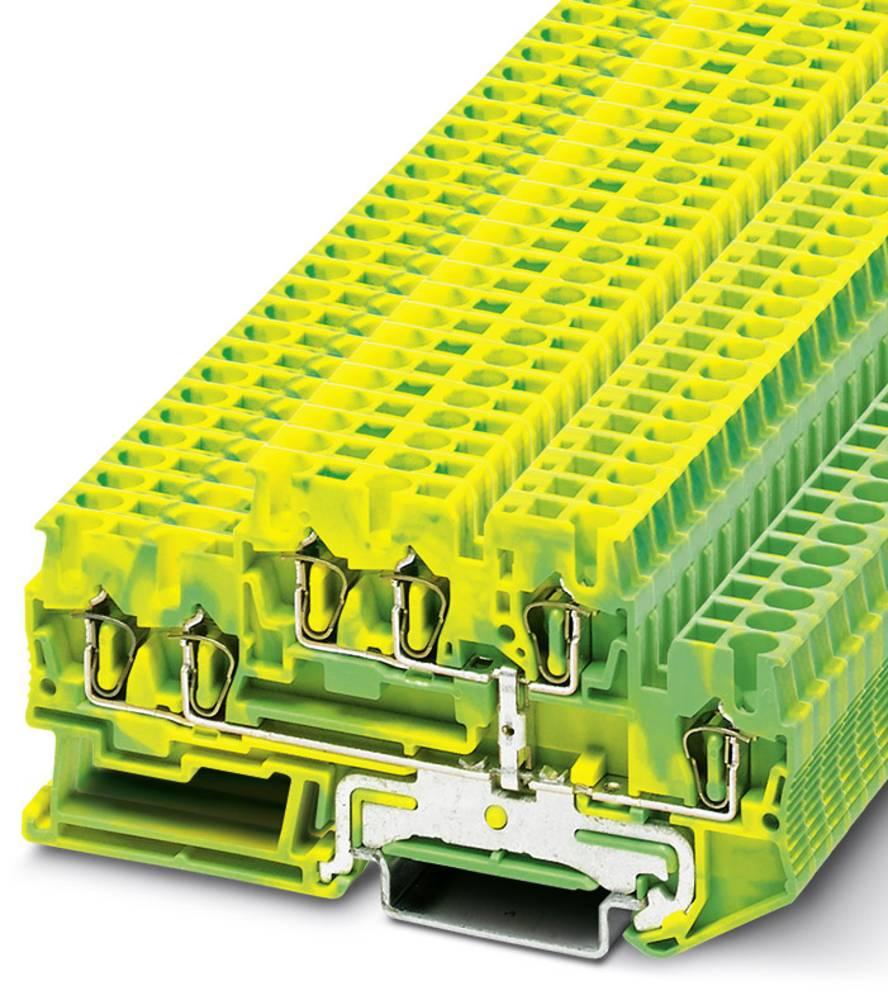 Feed-through terminal block STTB 2,5-TWIN-PE Phoenix Contact STTB 2,5-TWIN-PE Grøn-gul 50 stk