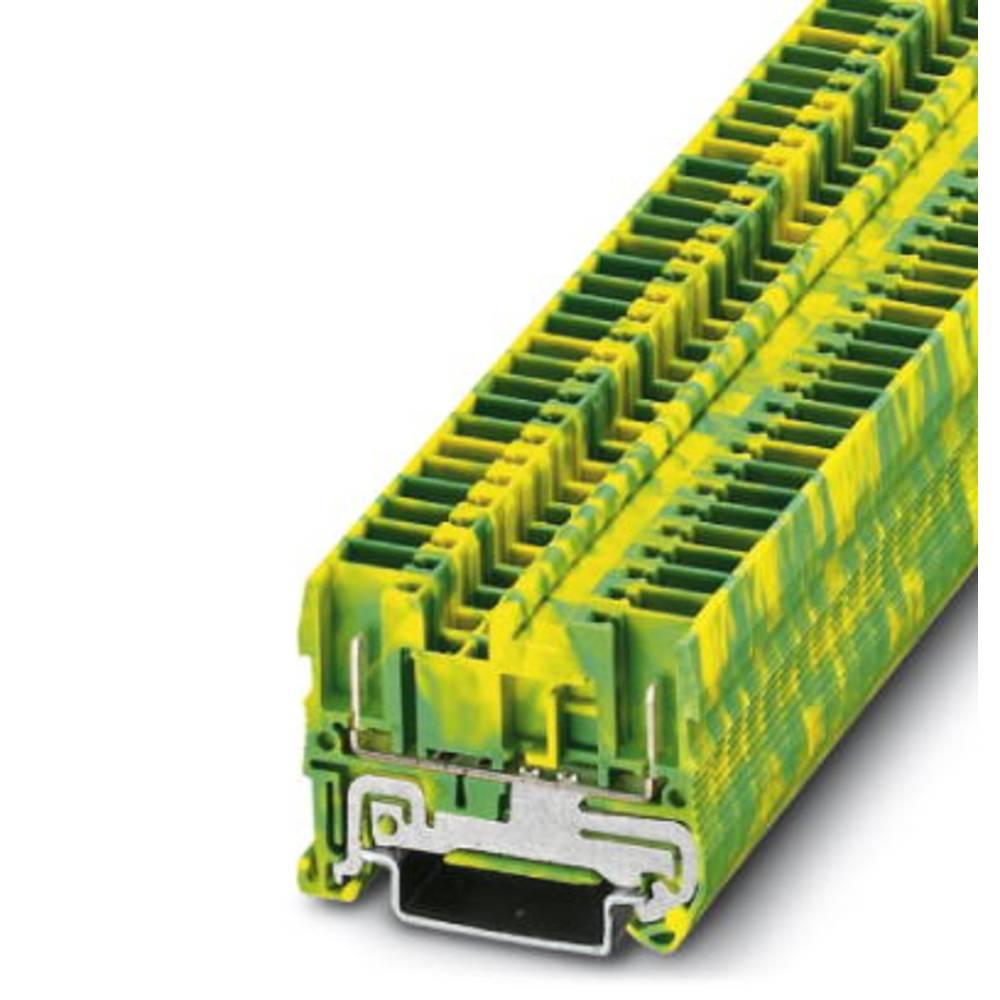 Beskyttende leder klemrække ST 2,5 / 2P-PE Phoenix Contact ST 2,5/2P-PE Grøn-gul 50 stk