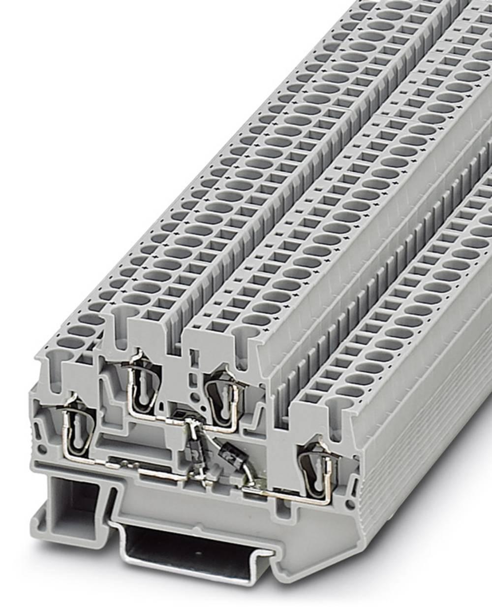Komponent terminal STTB 2,5-2DIO / O UL / UL-UR Phoenix Contact STTB 2,5-2DIO/O-UL/UL-UR Grå 50 stk