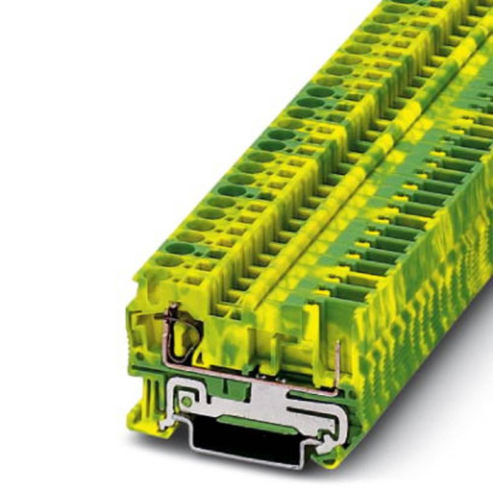 Beskyttende leder klemrække ST 4 / 1P-PE Phoenix Contact ST 4/1P-PE Grøn-gul 50 stk