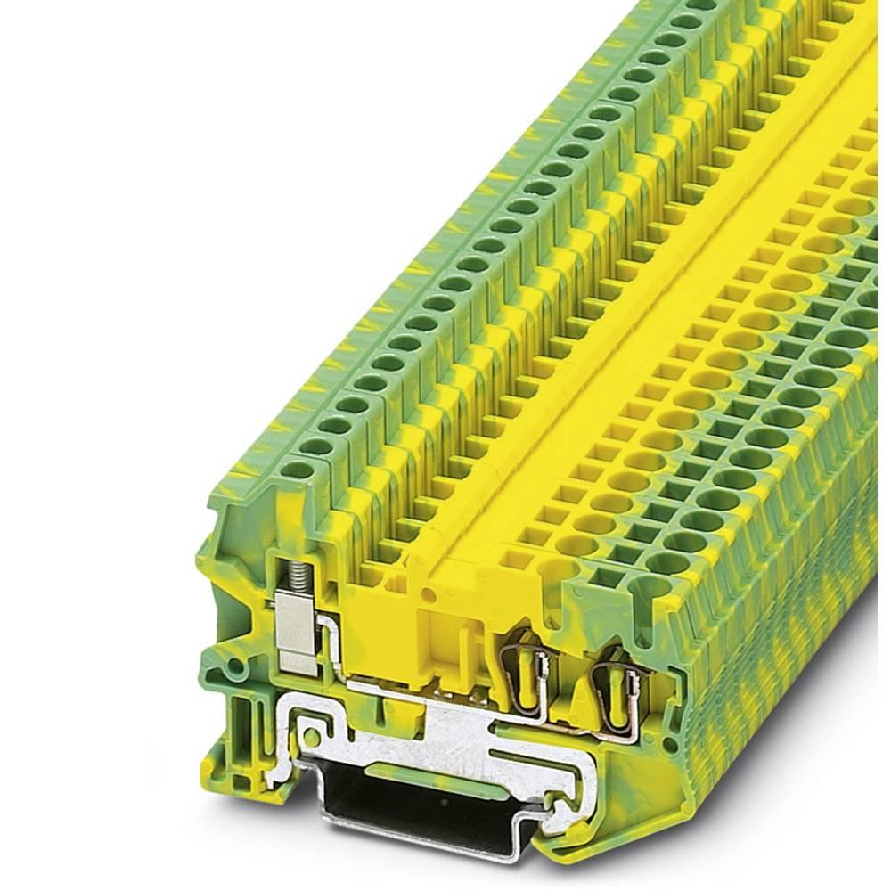 Gennem terminal STU 2,5-TWIN-PE Phoenix Contact STU 2,5-TWIN-PE Grøn-gul 50 stk
