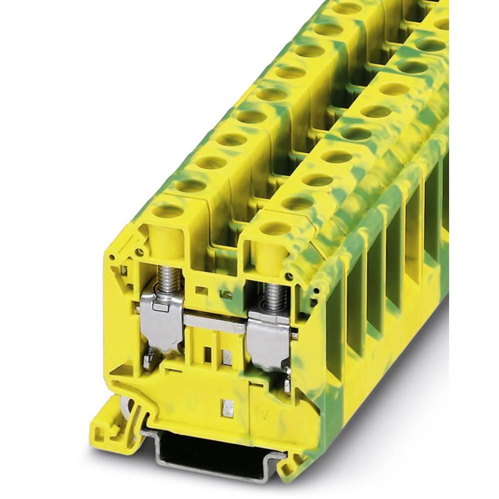 Beskyttende leder klemrække UT 16-PE Phoenix Contact UT 16-PE Grøn-gul 50 stk