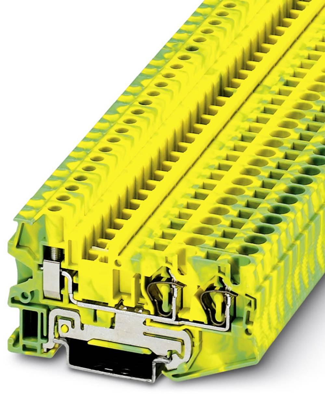 Gennem klemme STU 4-TWIN-PE Phoenix Contact STU 4-TWIN-PE Grøn-gul 50 stk