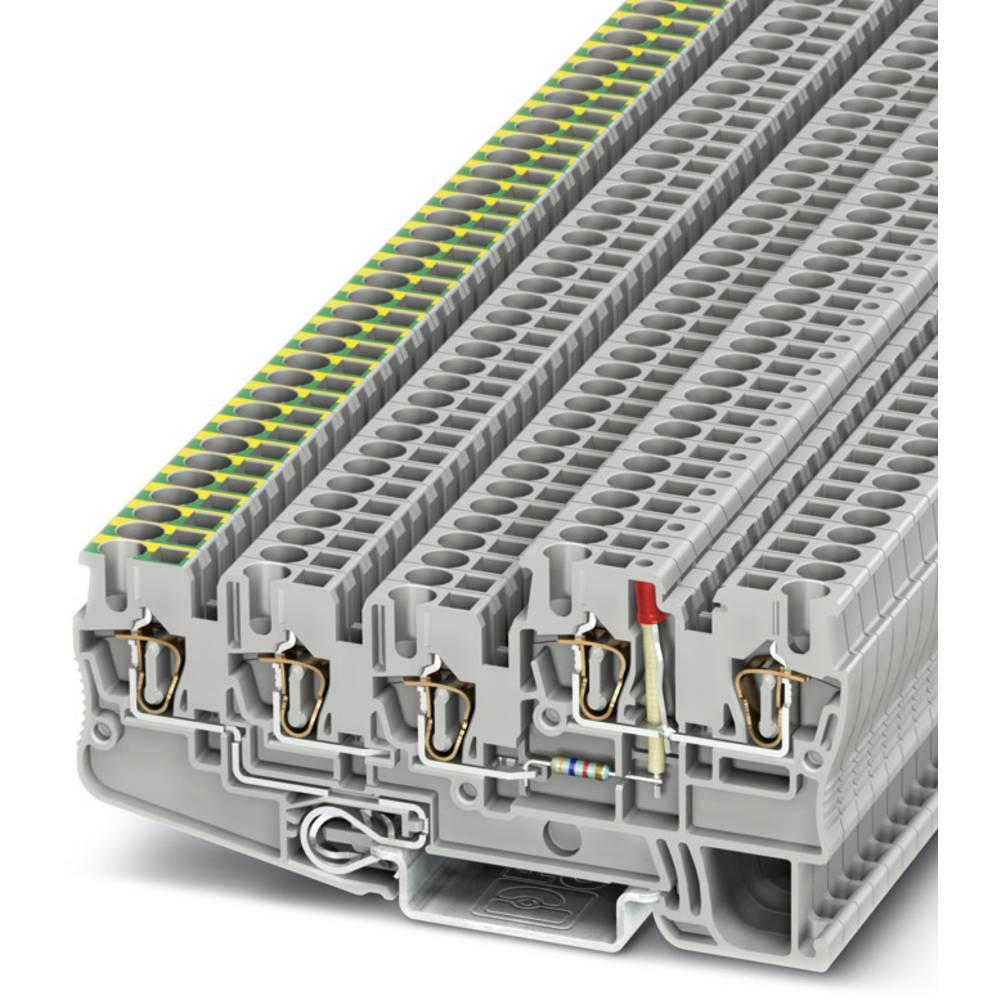 Initiator / aktuator terminal STIO 2,5 / 4-PE / 2B / L-LA24RD / O-M Phoenix Contact STIO 2,5/4-PE/2B/L-LA24RD/O-M Grå 50 stk