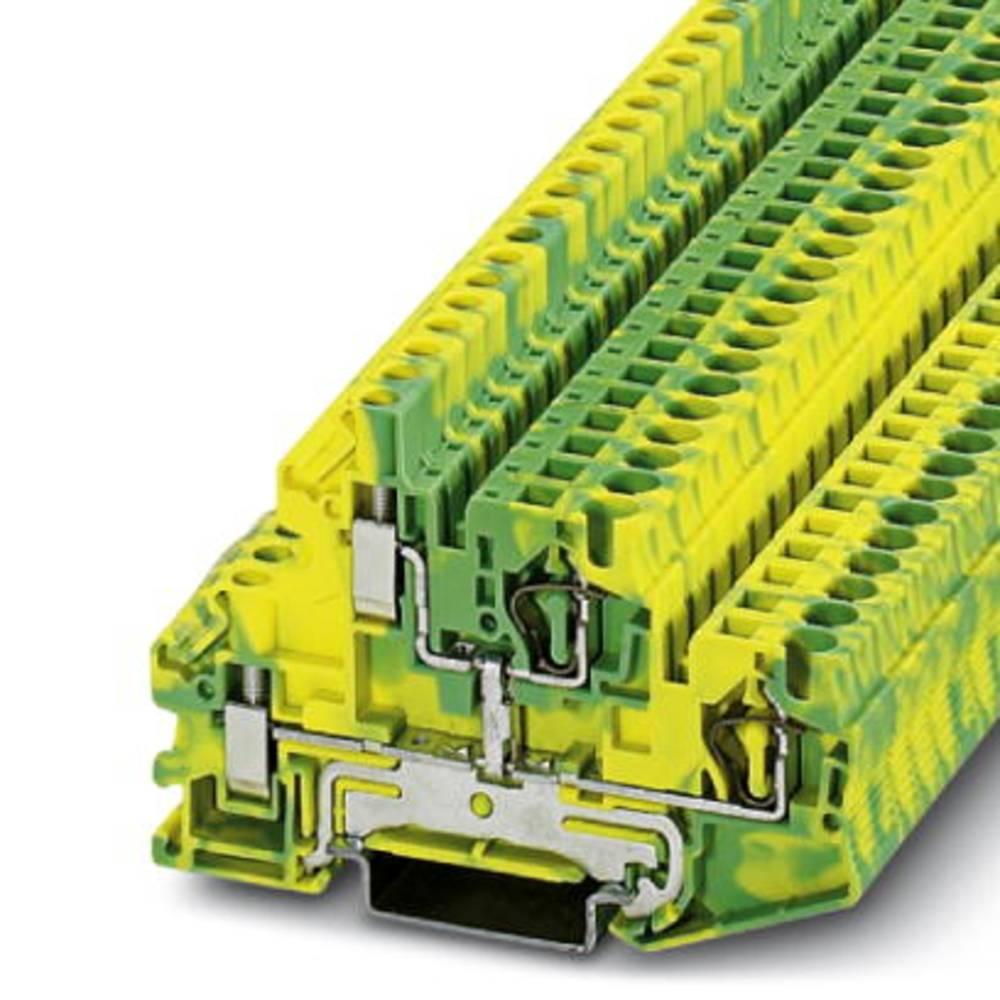Double-level spring-cage terminal block STTBU 4-PE Phoenix Contact STTBU 4-PE Grøn-gul 50 stk