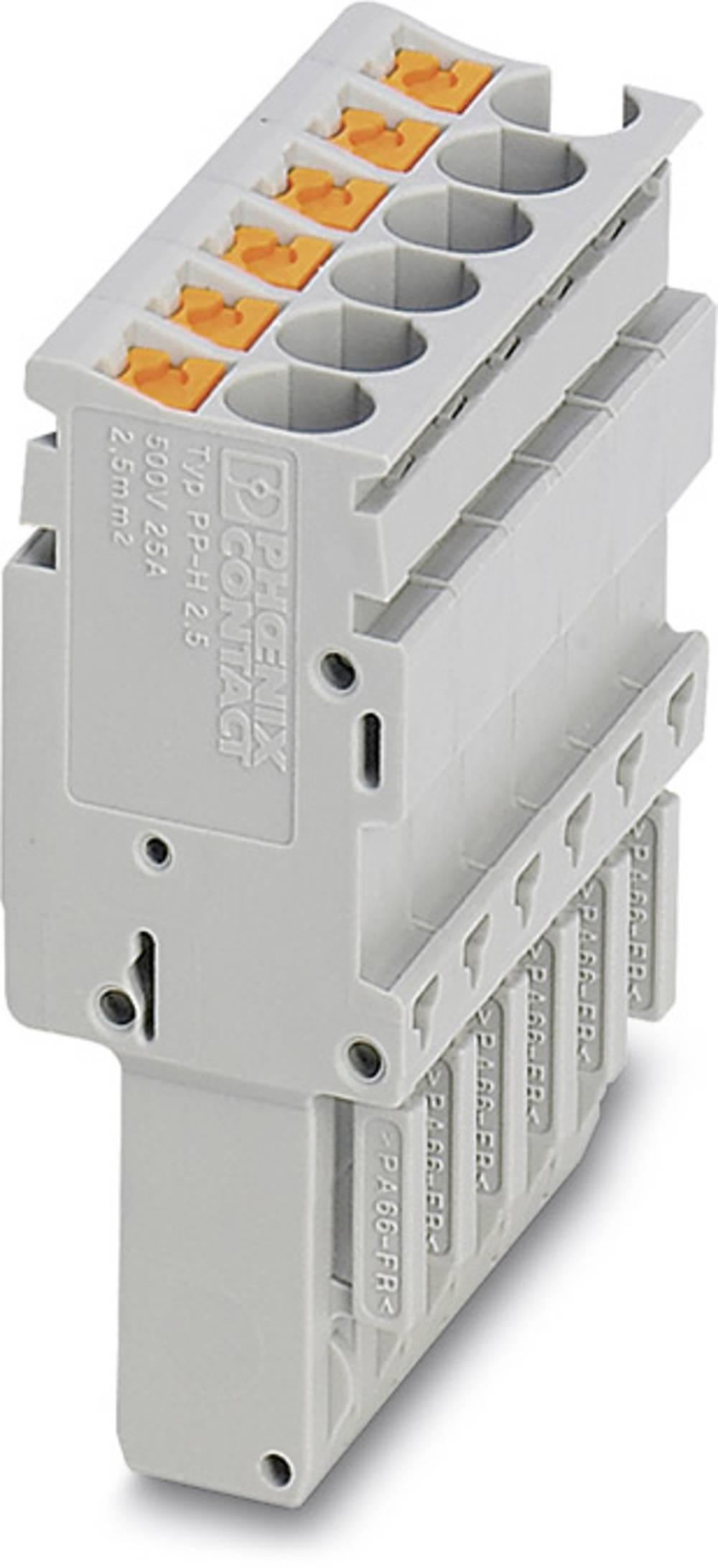 Plug PP-H 2,5 / 11 Phoenix Contact PP-H 2,5/11 Grå 10 stk