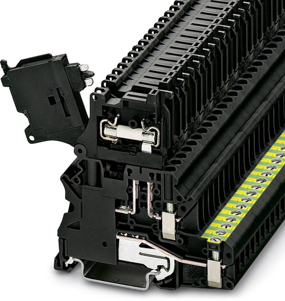 Sikring terminal UT 4-PE / Hesi LED 24 (5X20) Phoenix Contact UT 4-PE/HESI LED 24 (5X20) Sort 50 stk
