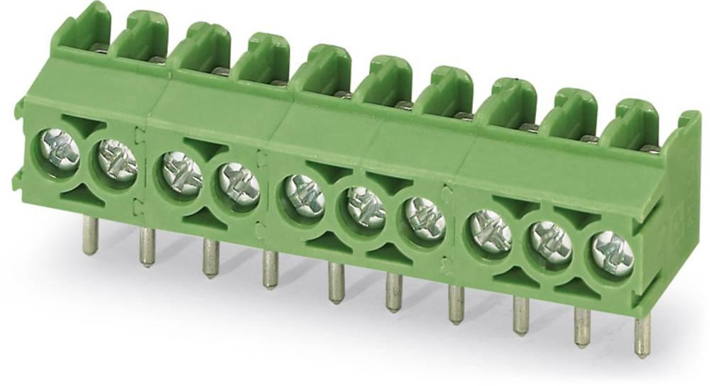 Skrueklemmeblok Phoenix Contact PT 1,5/ 3-3,5-V 1.50 mm² Poltal 3 Grøn 250 stk
