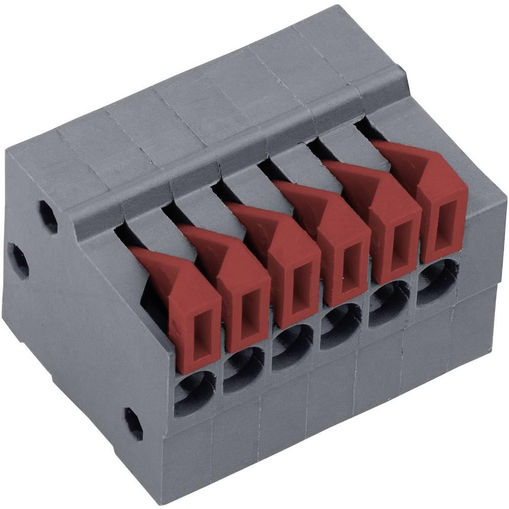 Fjederkraftsklemmeblok PTR AKZ4791/2KD-2.54-H 0.75 mm² Poltal 2 Basaltgrå 1 stk