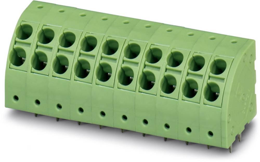 Fjederkraftsklemmeblok Phoenix Contact PTDA 2,5/ 3-5,0 2.50 mm² Poltal 3 Grøn 50 stk