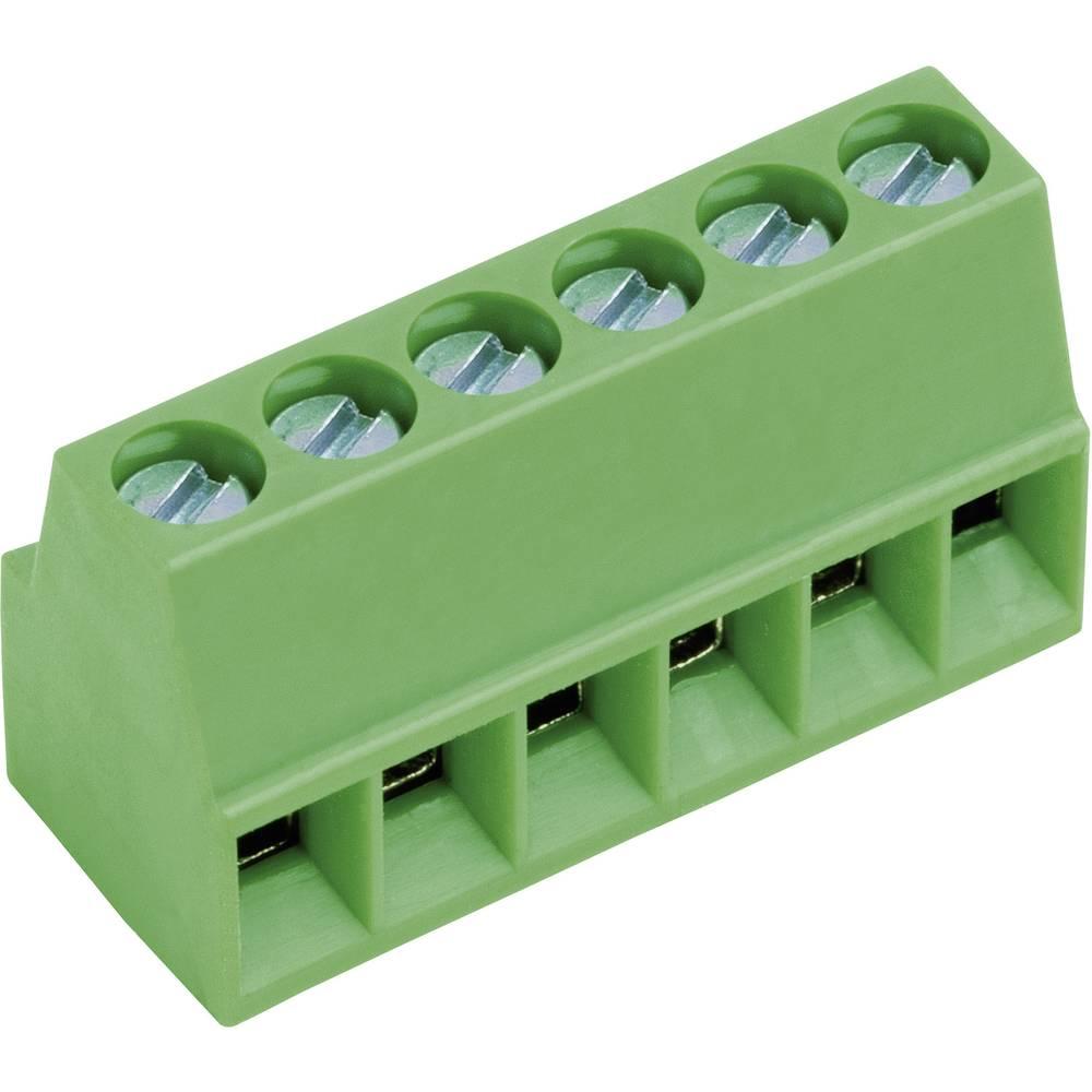 Skrueklemmeblok PTR AKZ692/4-2.54-V-GRÜN 0.75 mm² Poltal 4 Grøn 1 stk