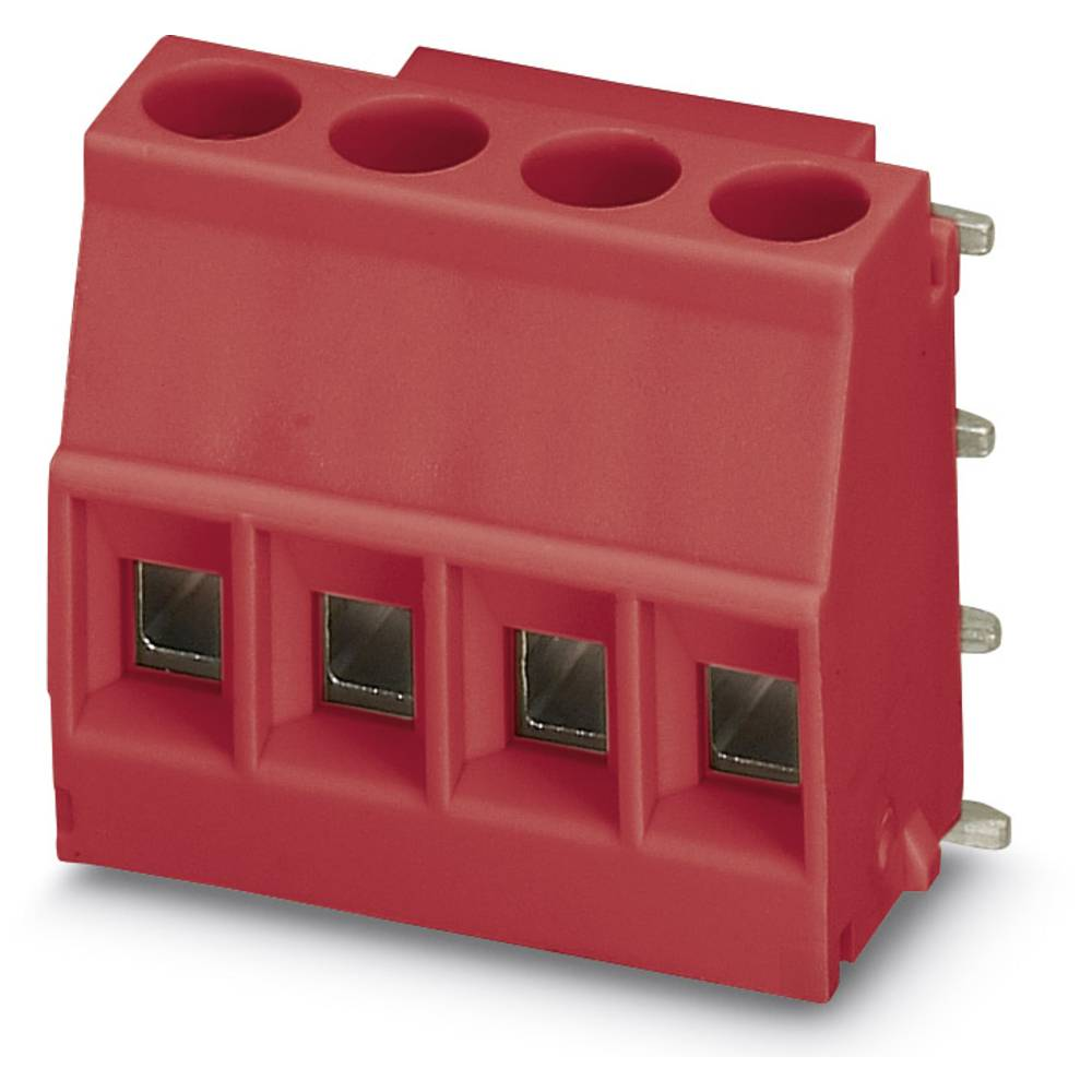 Skrueklemmeblok Phoenix Contact MKDSO 2,5/ 4-R RD 2.50 mm² Poltal 4 Rød 50 stk