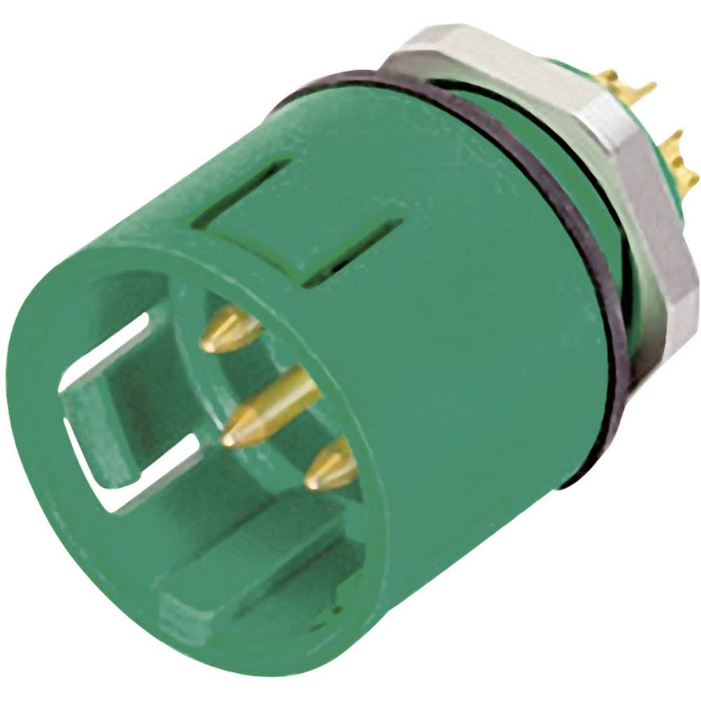 Mini okrogli konektor z barvnooznako Binder serije 720, 99-9127-70-08, 2 A, poli: 8