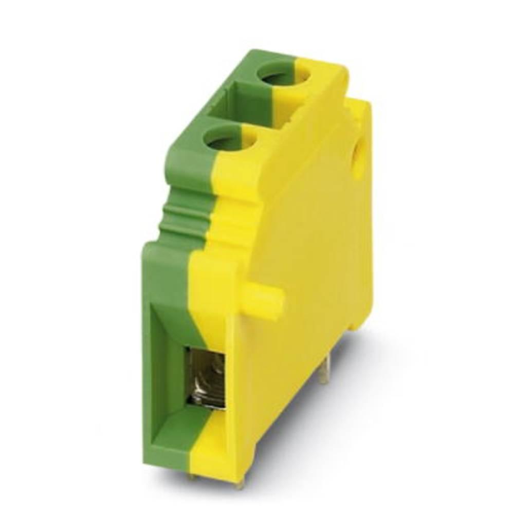 Skrueklemmeblok Phoenix Contact KDS10-PE 10.00 mm² Poltal 1 Grøn-gul 50 stk
