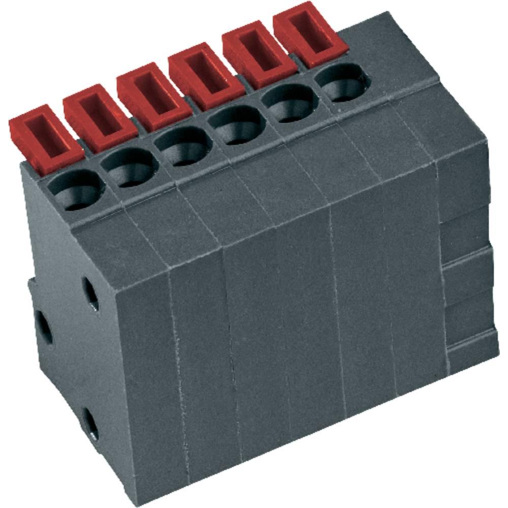 Fjederkraftsklemmeblok PTR AKZ4791/10KD-2.54-V 0.75 mm² Poltal 10 Basaltgrå 1 stk