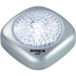 LED Lille mobillygte Basetech Sølv