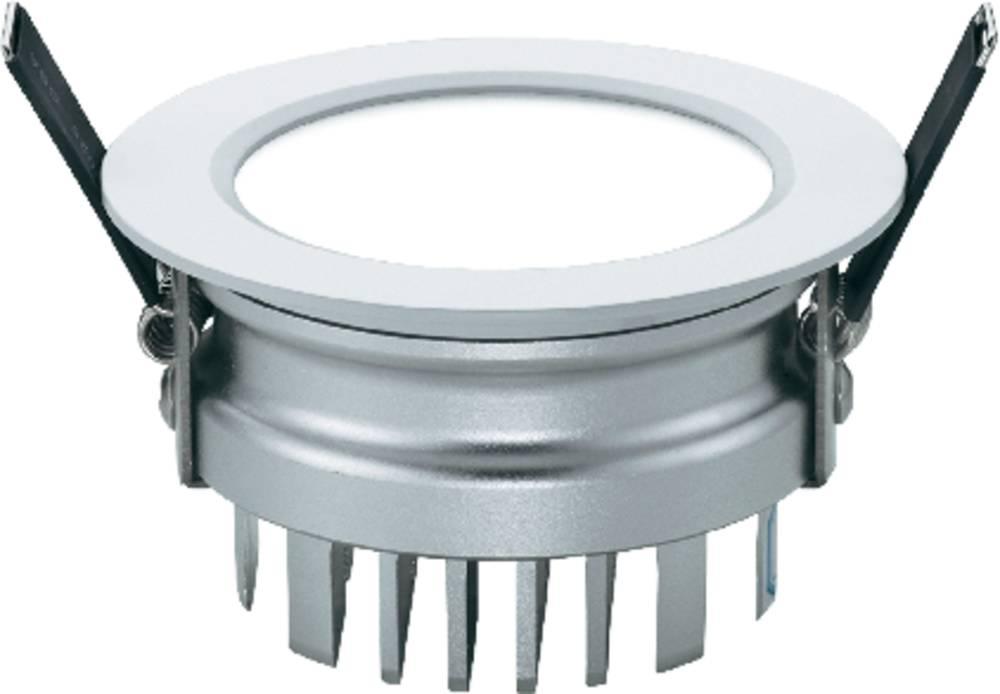 LED vgradna svetilka za zaprte prostore Sygonix Downlight Prato 34338D, 12 W, srebrno-siva