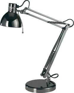 Skrivbordslampa Basetech Halogen, Lågenergilampa GU10 35 W Mörkgrå