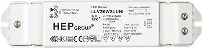Image of 20W 24V LED transformer Constant voltage 0 - 0.83 A 24 Vdc not dimmable