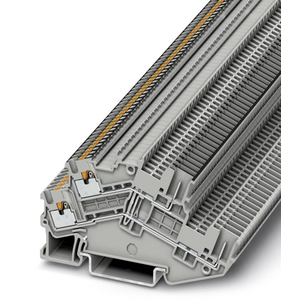PTTBS 1.5 / S / 2P-PV - beskyttelsesleder dobbeltdækker terminal Phoenix Contact PTTBS 1,5/S/2P-PV Grå 50 stk