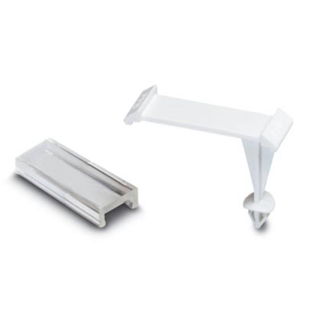 Označevalnik naprav, montaža: pripenjanje, površina: 29 x 8 mm primeren za serijo univerzalno uporabo, bele barve, prozorne barv