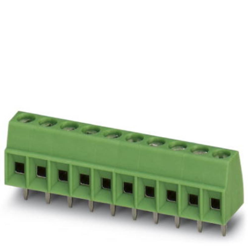 Skrueklemmeblok Phoenix Contact MKDS 1/10-3,5 1.50 mm² Poltal 10 Grøn 100 stk