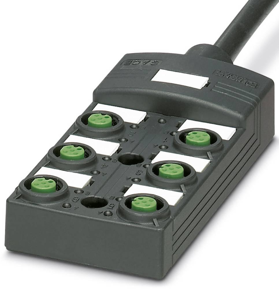 Sensor/aktorbox passiv M12-fordeler med kunststofgevind SACB-6/ 6-L- 5,0PUR SCO P 1452631 Phoenix Contact 1 stk