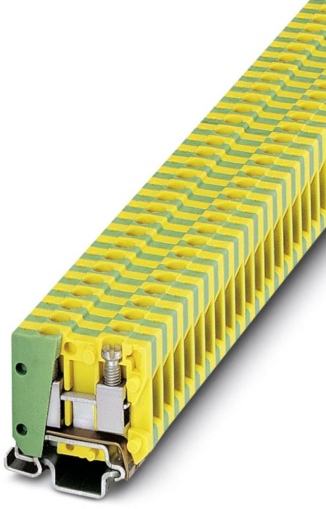 MBK 2,5 / E-PE - beskyttelsesleder klemrække Phoenix Contact MBK 2,5/E-PE Grøn-gul 50 stk