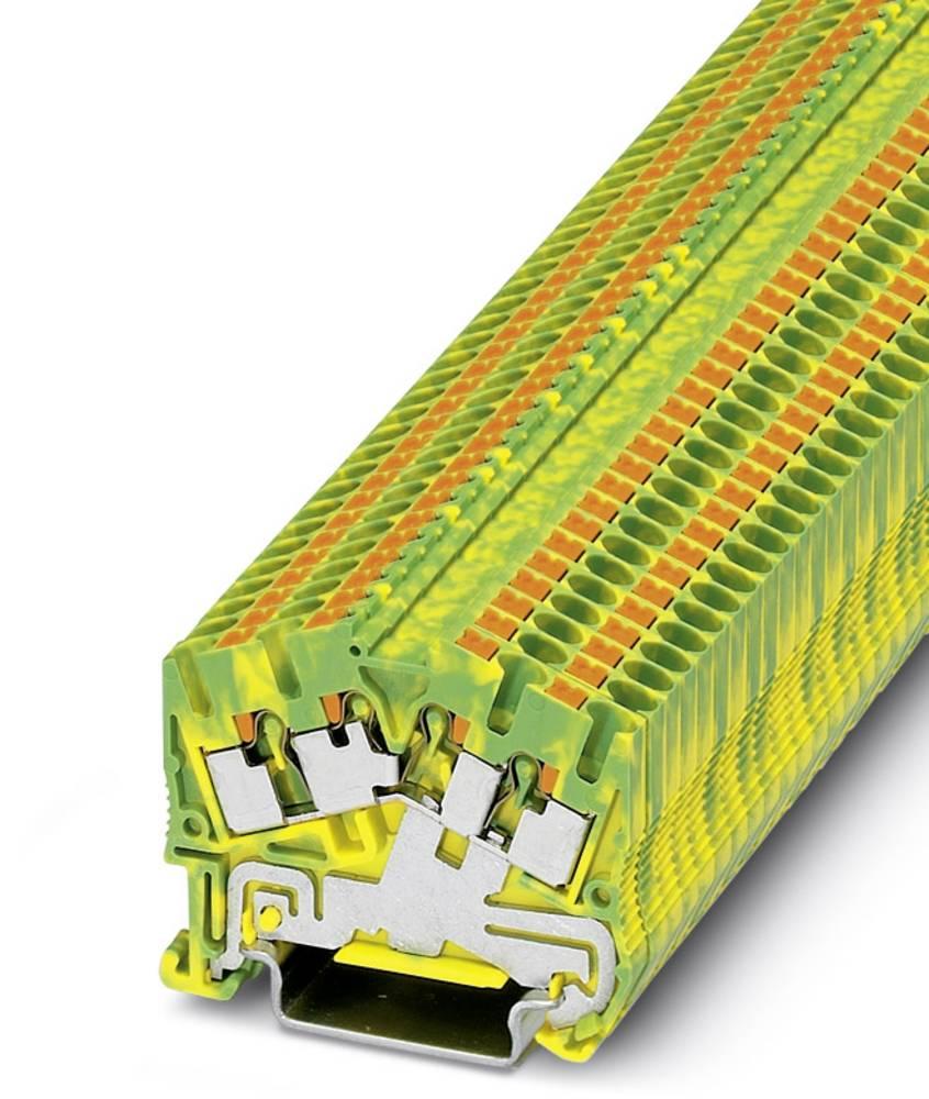 PTS 2.5-QUATTRO-PE - beskyttelsesleder klemrække Phoenix Contact PTS 2,5-QUATTRO-PE Grøn-gul 50 stk