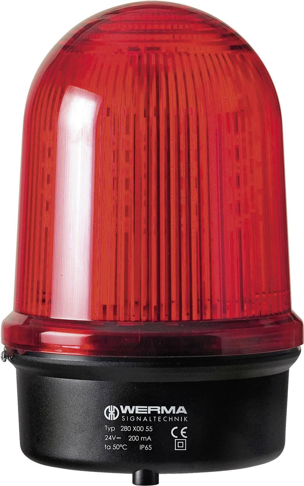 Werma Signaltechnik 280.120.68 LED-luč vrtljiva 115 - 230 V/AC, rdeča