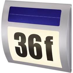 Solcelle-husnummerbelysning Renkforce HN 058 17 lm Varm hvid Rustfrit stål