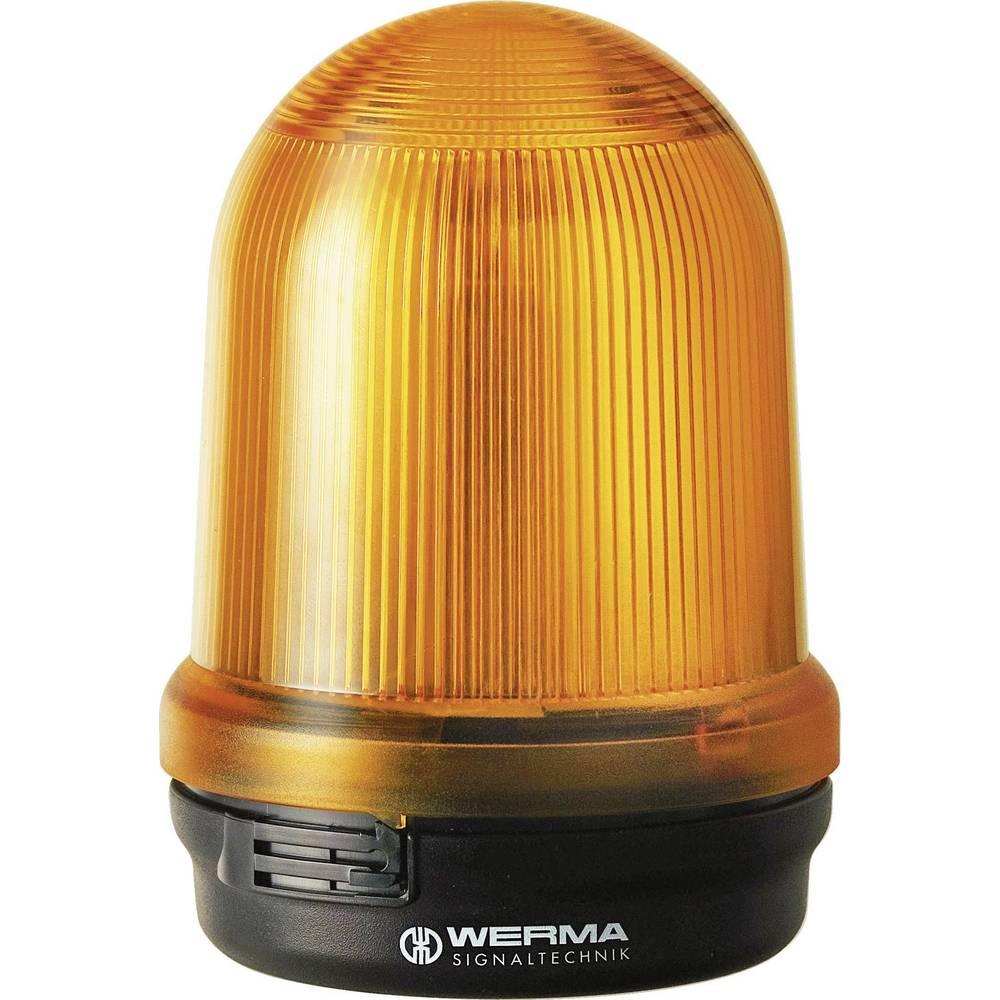 Werma Signaltechnik Vrtljiva signalna LED luč 829, talna pritrditev, 230 V/AC, rumena