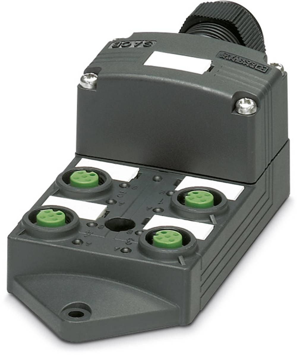 Sensor/aktorbox passiv M12-fordeler med kunststofgevind SACB-4/ 8-L-SC SCO P 1452990 Phoenix Contact 1 stk