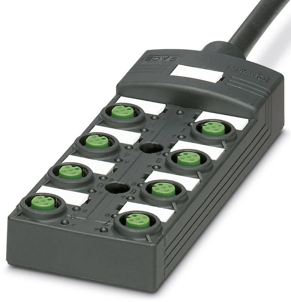 Sensor/aktorbox passiv M12-fordeler med kunststofgevind SACB-8/ 8-L- 5,0PUR SCO P 1452699 Phoenix Contact 1 stk