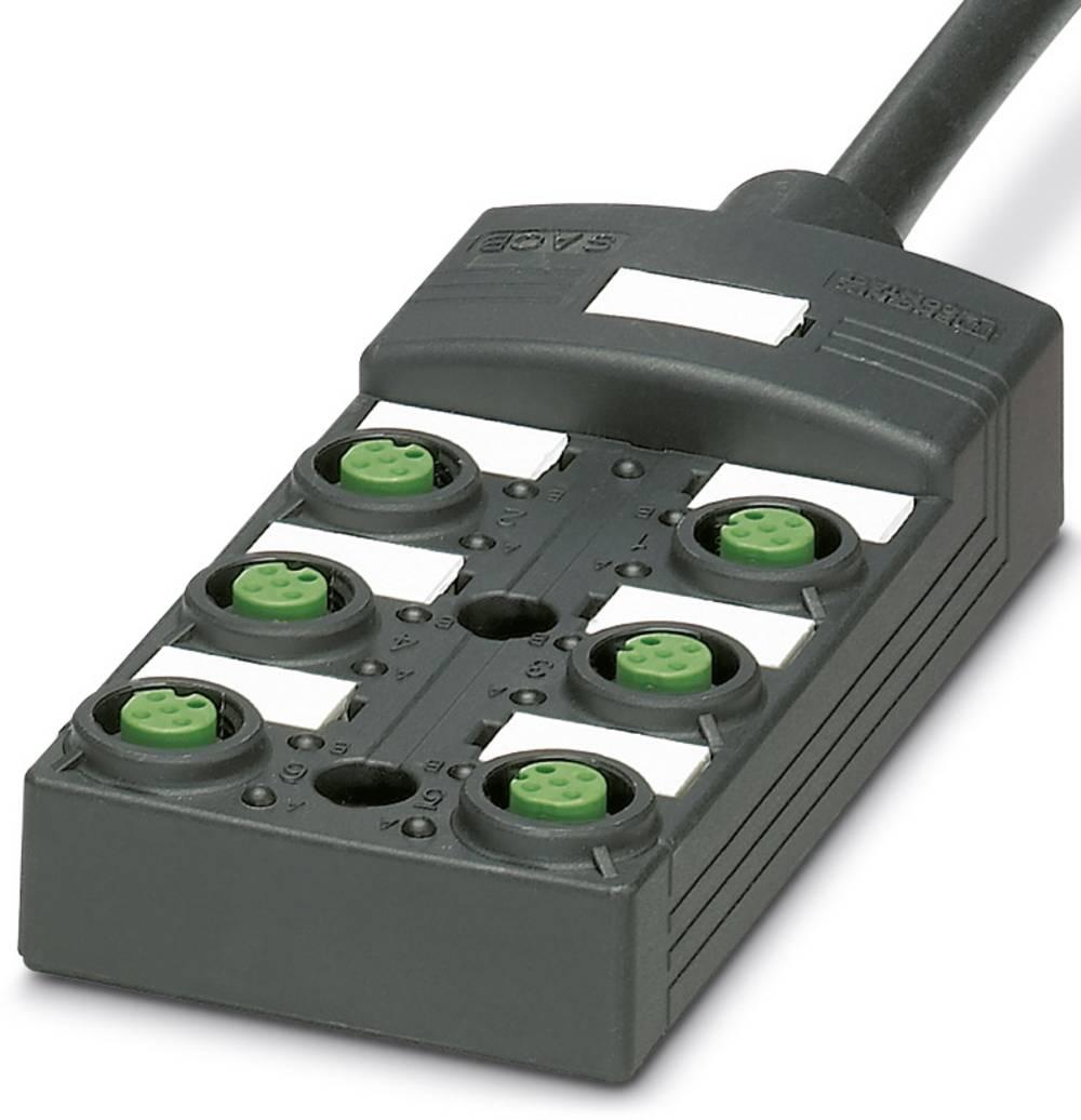 Sensor/aktorbox passiv M12-fordeler med kunststofgevind SACB-6/12-L- 5,0PUR SCO P 1452660 Phoenix Contact 1 stk