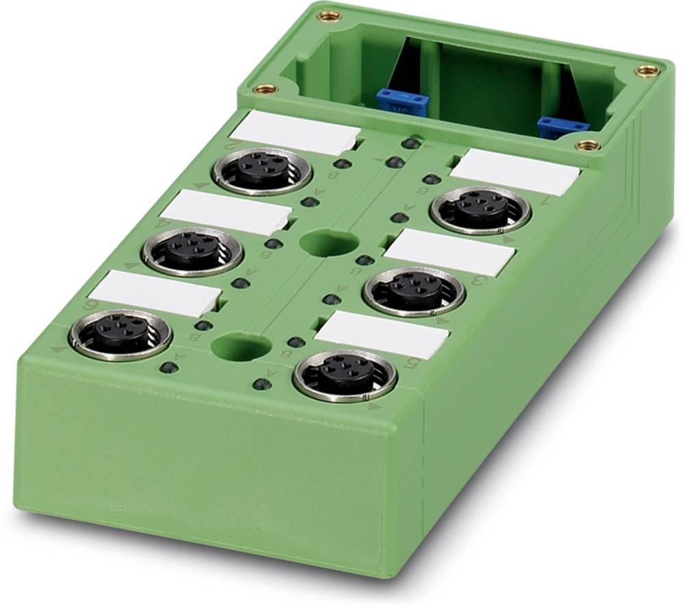Sensor/aktorbox passiv M12-fordeler med metalgevind SACB-6/12-L-C GG SCO 1516755 Phoenix Contact 1 stk