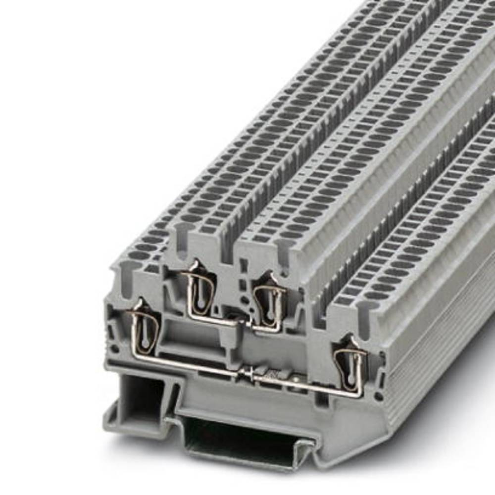 Double-level spring-cage terminal block STTB 1,5 Phoenix Contact STTB 1,5 Grå 50 stk