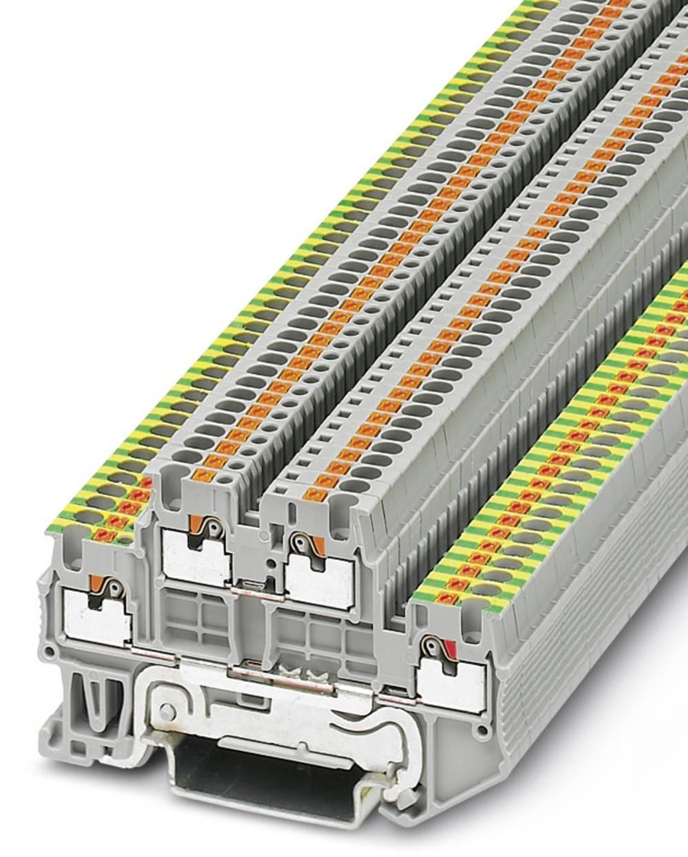 PTTB 1.5 / S-PE / L - toetages terminal Phoenix Contact PTTB 1,5/S-PE/L Grå 50 stk