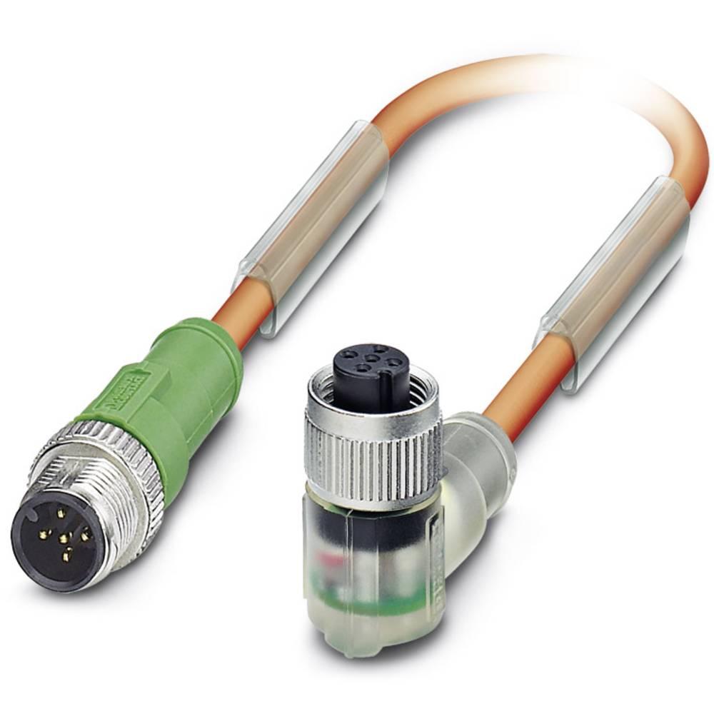 Senzorski/aktuatorski kabel SAC-5P-M12MS/ 0,6-PUR/M12FR3LVW Phoenix Contact vsebuje: 1 kos