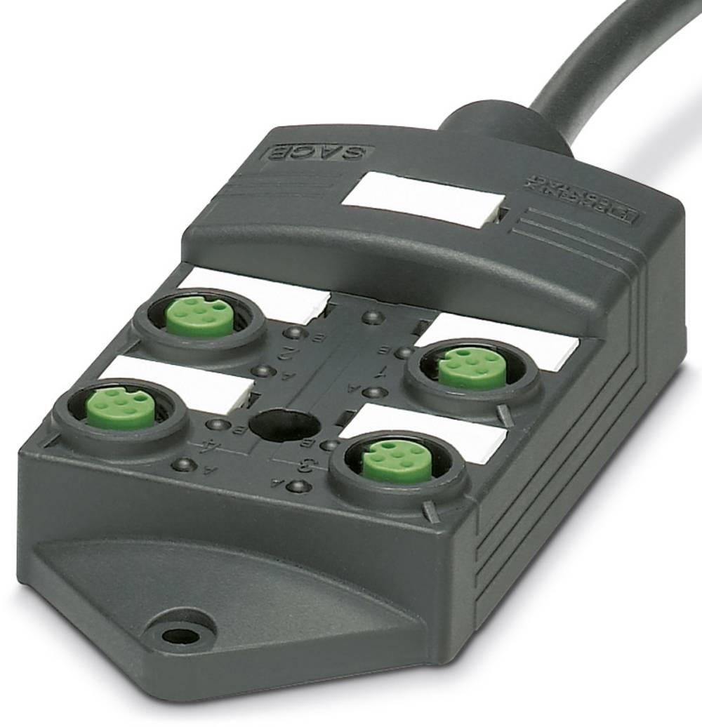 Sensor/aktorbox passiv M12-fordeler med kunststofgevind SACB-4/ 4-L-10,0PUR SCO P 1452589 Phoenix Contact 1 stk