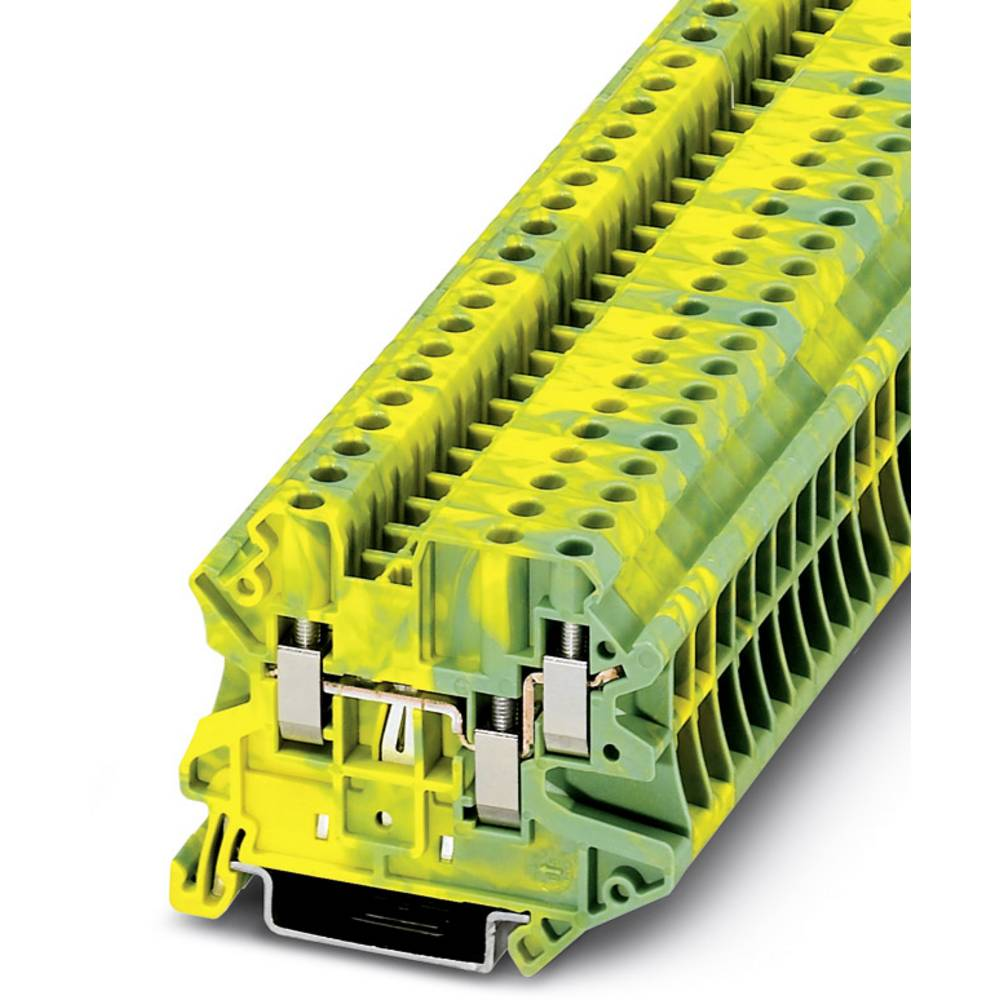 UT 4-TWIN-PE - gennem terminal Phoenix Contact UT 4-TWIN-PE Grøn-gul 50 stk