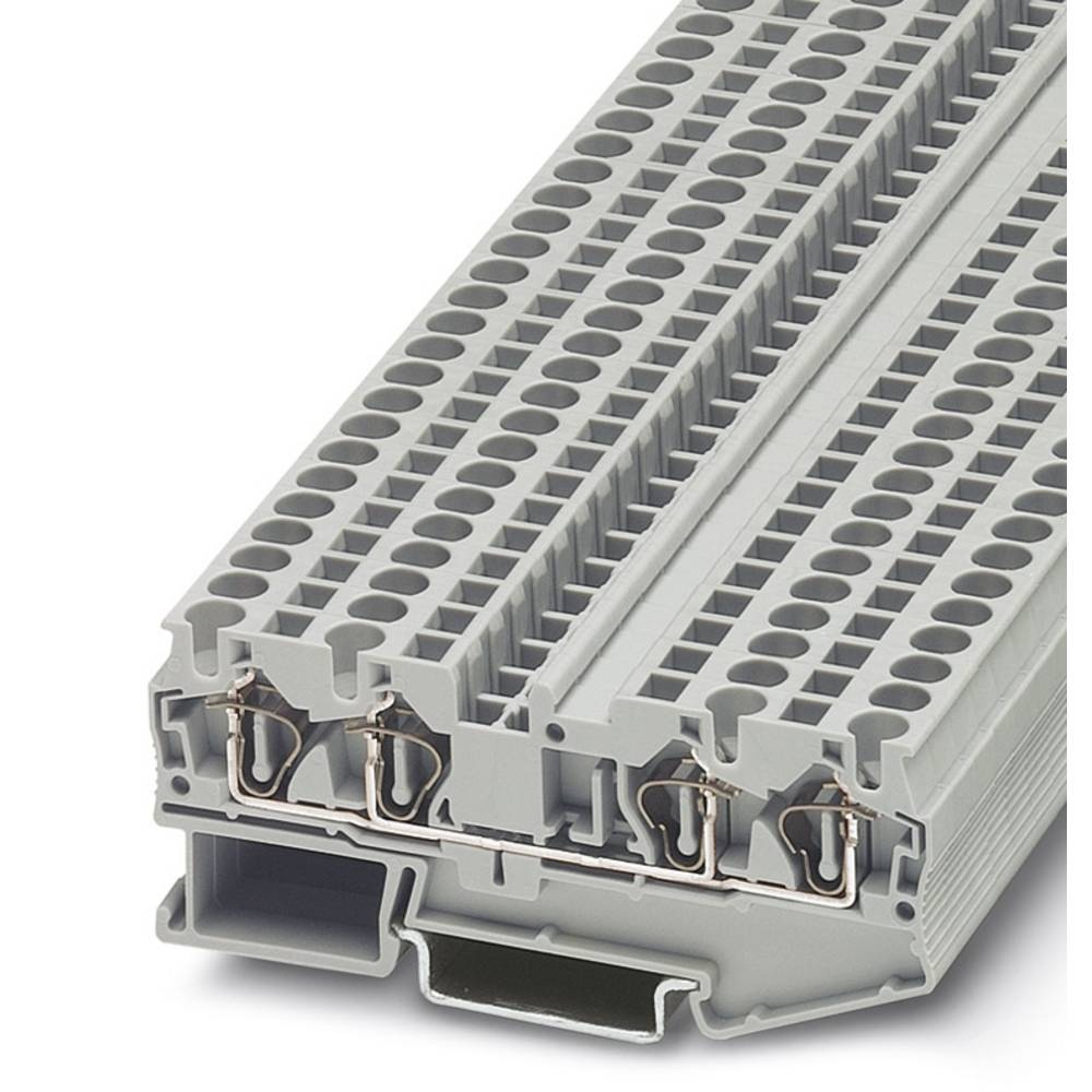 Feed-through terminal block ST 4-QUATTRO BU Phoenix Contact ST 4-QUATTRO BU Blå 50 stk