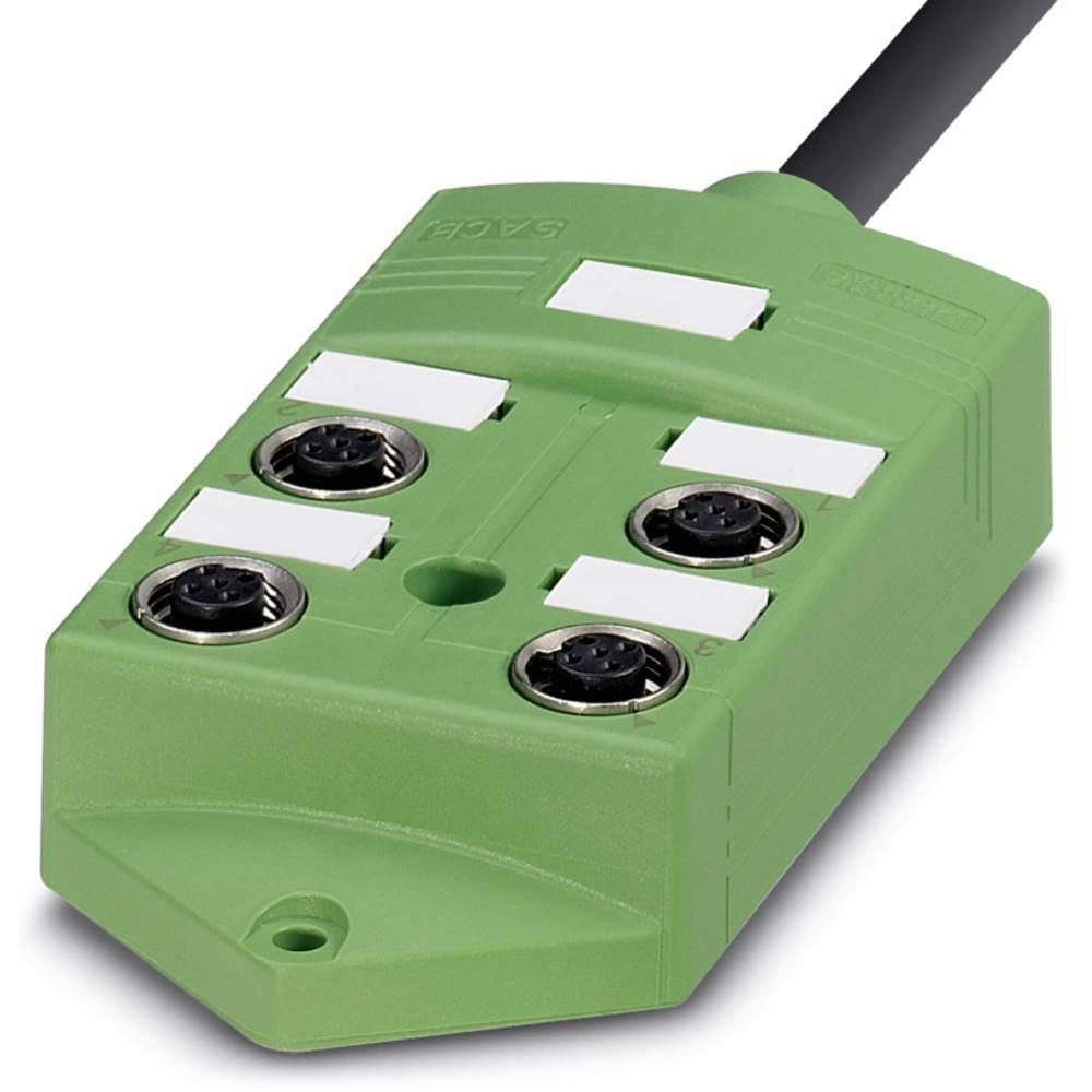 Sensor/aktorbox passiv M12-fordeler med metalgevind SACB-4/ 4- 5,0PUR SCO 1516962 Phoenix Contact 1 stk