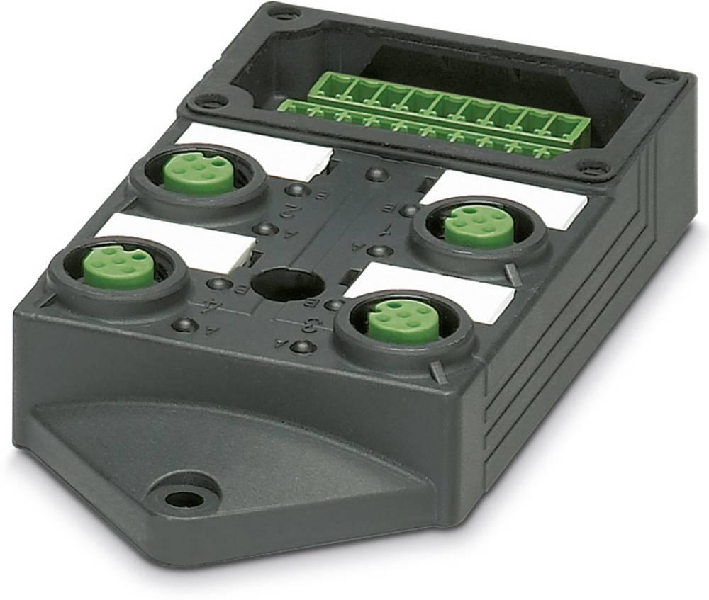 Sensor/aktorbox passiv M12-fordeler med kunststofgevind SACB-4/ 8-L-C GG SCO P 1452877 Phoenix Contact 1 stk